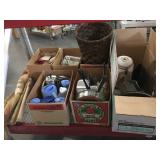Lot of assorted kitchenware - dish set, pots and