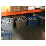 Large collection of vintage beer cans - empty