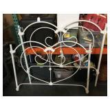Full size enamel painted metal bed frame