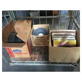 Bottom shelf - lot of LP records - Attention! All