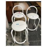 Set of 3 modern metal stools