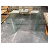 5 foot long all-glass dining table - no chairs