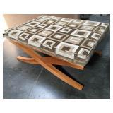 4 foot long La-Z-Boy padded ottoman/bench with