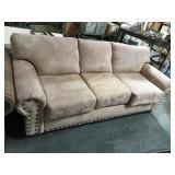 PFC brand 3 cushion micro suede sofa - some