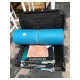 Portable folding seat, yoga mat and 60 sq feet of