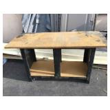 Wood and metal workbench - approx. 5 feet long