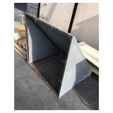 New metal over-door awning - fits over single