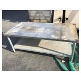 Approx. 5 foot long low stainless shelf