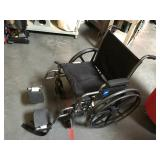 Medline wheelchair with footrests