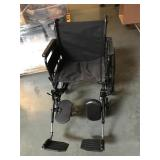 Direct supply wheelchair with footrests - missing