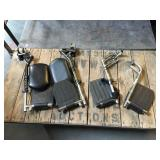 2 sets of wheelchair leg rests