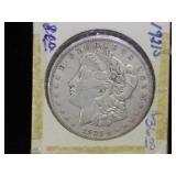 1921-S Morgan Silver Dollar in flip