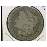 1882-S Morgan Silver Dollar in flip