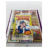Garbage pail kids lot with sealed poster