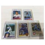 5 card baseball rookie lot
