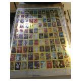Playboy chrome cards uncut sheet