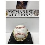 Ozzie smith autographed baseball