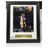 Kobe Bryant autographed 8x10 sports memory