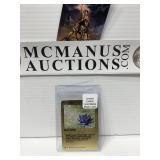 Black lotus metal card