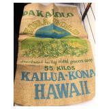 Pakalolo Kona Gold Hawaii Marijuana Burlap Bag,