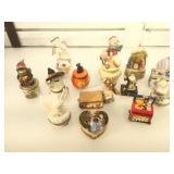 Lot of assorted trinket boxes some are Christmas