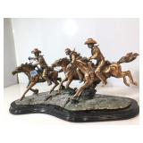Group 3 Cowboys on Horseback figures, each approx