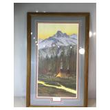 John Strain, LE Print, Sunset Reflections, matted