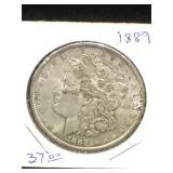 1889 Morgan Silver Dollar in flip