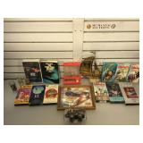 7 VHS tapes, Star Trek Reader and video, ring