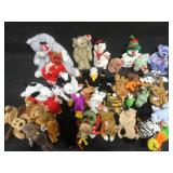Large lot of  Beanie Babies