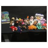 Large lot of Beanie Babies w/books and more