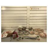 Japanese Geisha plates and cup w/mugs and