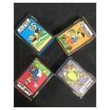 4 Vintage Disney playing cards Pinocchio, Donald