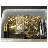 Lot of assorted brass - 223 and 300 Win Mag and