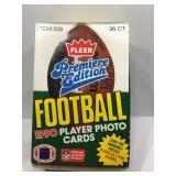 1990 fleer sealed football box