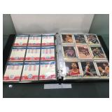 Album of basketball cards