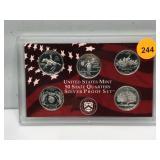 1999 Silver Proof State Quarter Set