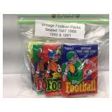 Vintage sealed football cards