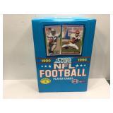 1990 score football sealed box