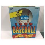 1990 fleer baseball sealed box