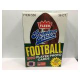 1990 fleer football sealed box