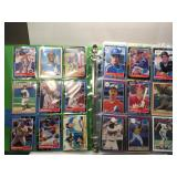 Mixed album baseball cards