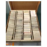 Huge box of mixed sports cards baseball