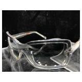 Chanel Clear Frames, light gray tint, sunglasses