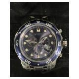 Invicta Pro Diver Chronograph, blue dial and date