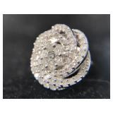 .925 Sterling Silver and Diamond .50 CTW single