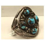 Sterling Silver Hand Made Native American Cuff