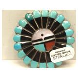 Sterling Silver Hand Made Native American Zuni