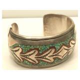 Sterling Silver Hand Made Navajo Cuff Bracelet