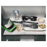 Lot of assorted Fashion jewelry and watches -